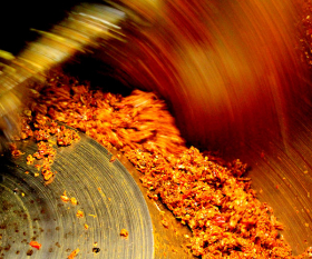 A mixer gets to work on curry paste in Trang, southern Thailand. Photograph by Richard Poole