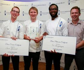 The winners of Le Cordon Bleu's 2017 Scholarship Award