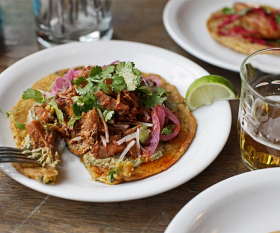 Club Mexicana's jackfruit tacos