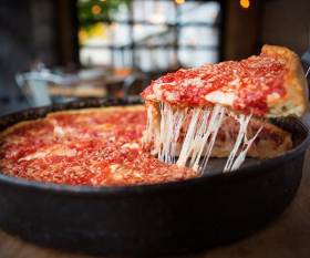 Lou Malnati's deep dish pizza in Phoenix. The deep-dish pizza chain is a Chicago success story