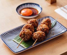 Chicken yakitori skewers at Machiya