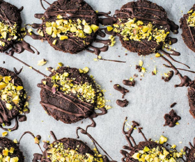 Make Izy Hossack's double chocolate cookies; photograph by Izy Hossack