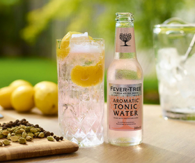 A bottle of Fever-Tree tonic water