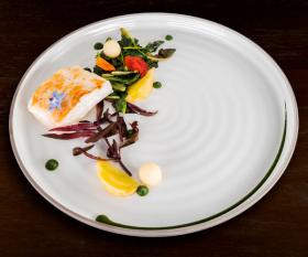 Turbo fish dish from Rigo, a restaurant in Parsons Green