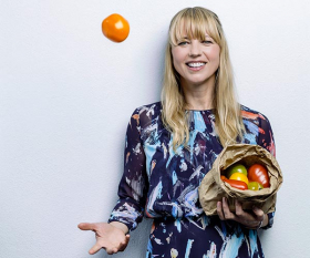Sara Cox is an ambassador of Organic September's #FeedYourHappy campaign