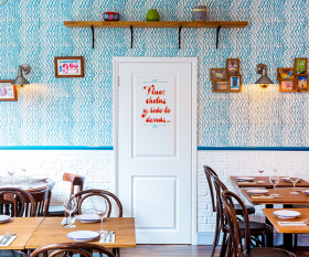 Modern Mexican restaurant Santo Remedio; Photograph by Nick Hopper