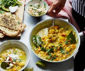 Tart London's smoked haddock and sweet potato curry