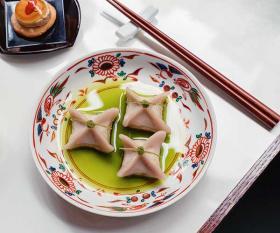 Delicate taro dumplings at XU; Carol Sachs