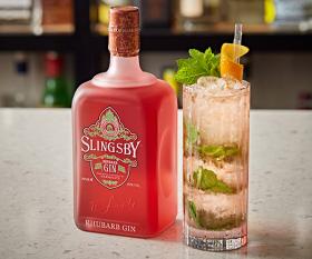 Slingsby Gin's rhubarb and raspberry iced tea