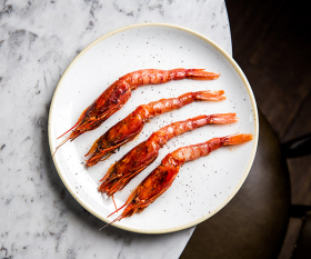 Grilled Sicilian prawns from The Ninth