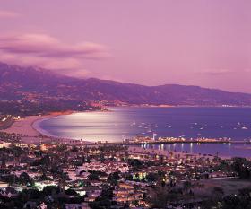 View over the bay of Santa Barbara