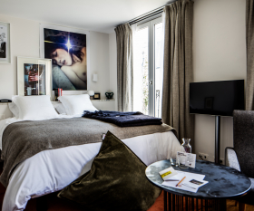 A hotel room at Le Pigalle in Paris