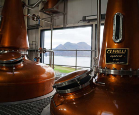 the Isle of Raasay's first legal distillery; Photograph by Scott Mooney