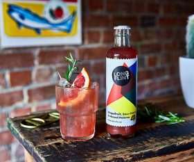 Longflint's grapefruit, sour cherry and mezcal Paloma