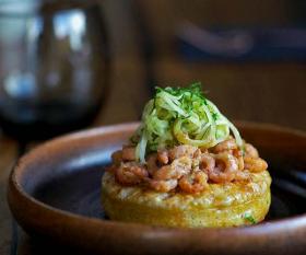 Cornerstone's potted shrimp crumpets
