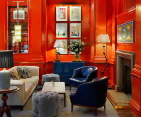 The Coral Room, The Bloomsbury Hotel; photograph by Simon Brown