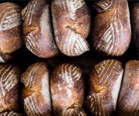 Sourdough loaves at Brick House Bakery in East Dulwich