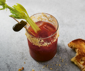 Florence Cherruault's quick grilled cheese toastie garnish; photography by Clare Lewington
