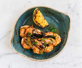 Grilled prawns from Casa do Frango