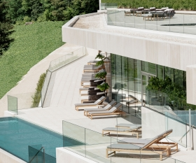 The Royal Champagne Hotel & Spa terrace's pool