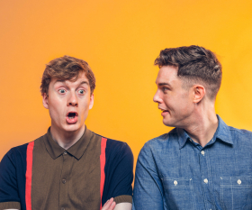 The Off Menu podcast with Ed Gamble and James Acaster is a delicious listen; photography by Paul Gilbey
