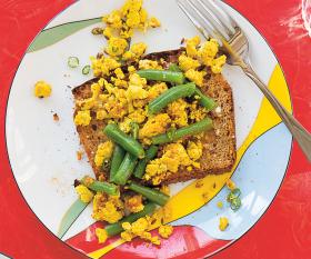 Make Priya Krishna's tofu green bean breakfast scramble; photography by Mackenzie Kelley