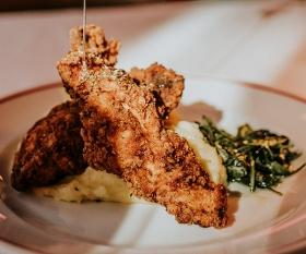 Fried chicken at Martha's, Soho