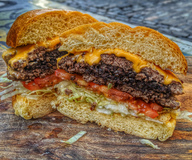 Burger Boy's black pudding burger