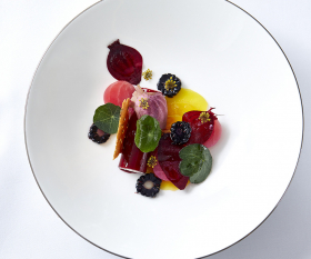 The Dining Room at The Goring restaurant review: A beetroot starter