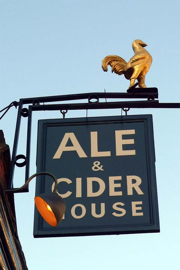 The sign outside The Southampton Arms pub in Kentish Town, London