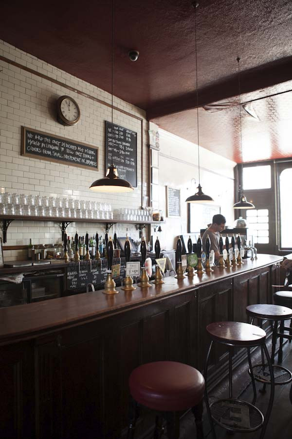 The bar at The Southampton Arms pub in Kentish Town, London
