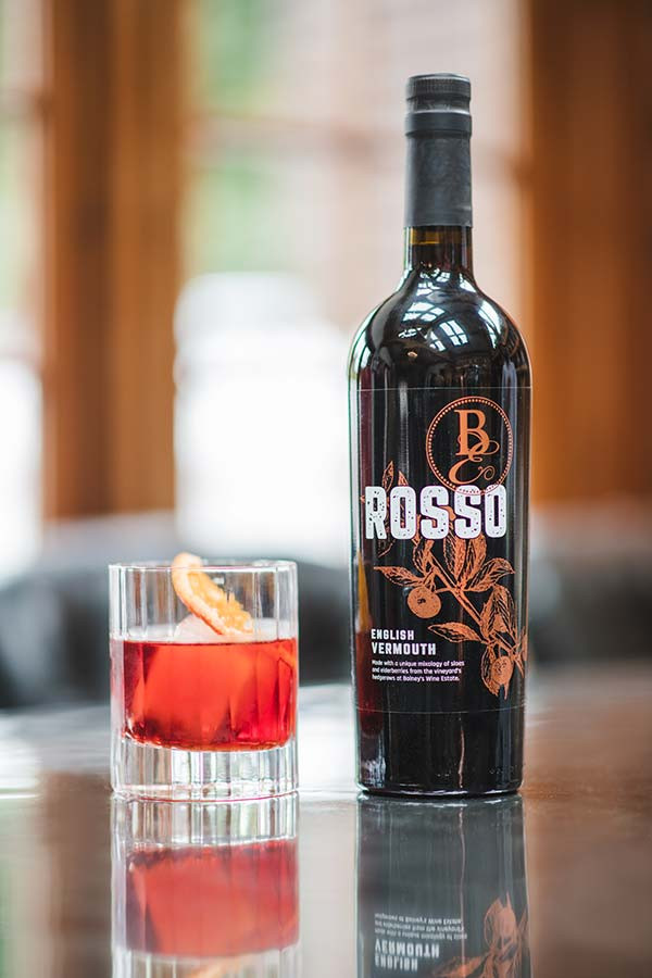 The Hand and Flowers's Bolney rosso negroni