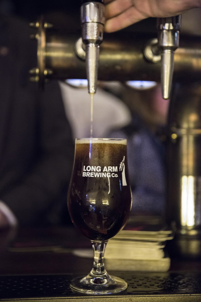 Beer at Long Arm brewpub, Shoreditch