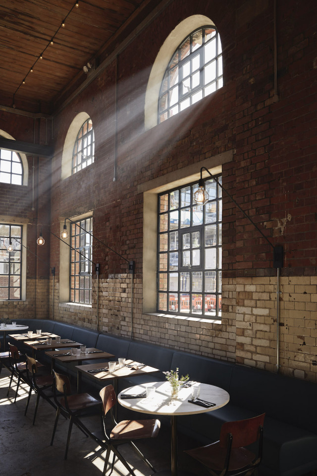 The post-industrial interior of The Light Bar