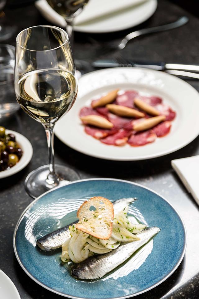 Restaurants Regent Street: iberica ham at Sabor