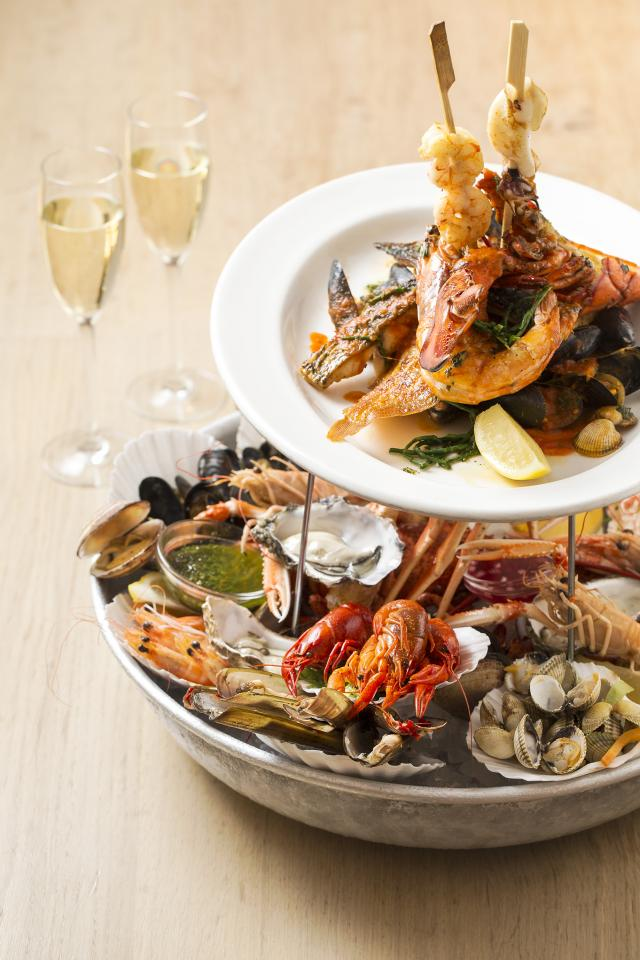 The Seafood Bar: the seafood platter