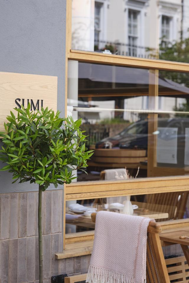 Sumi's restaurant terrace