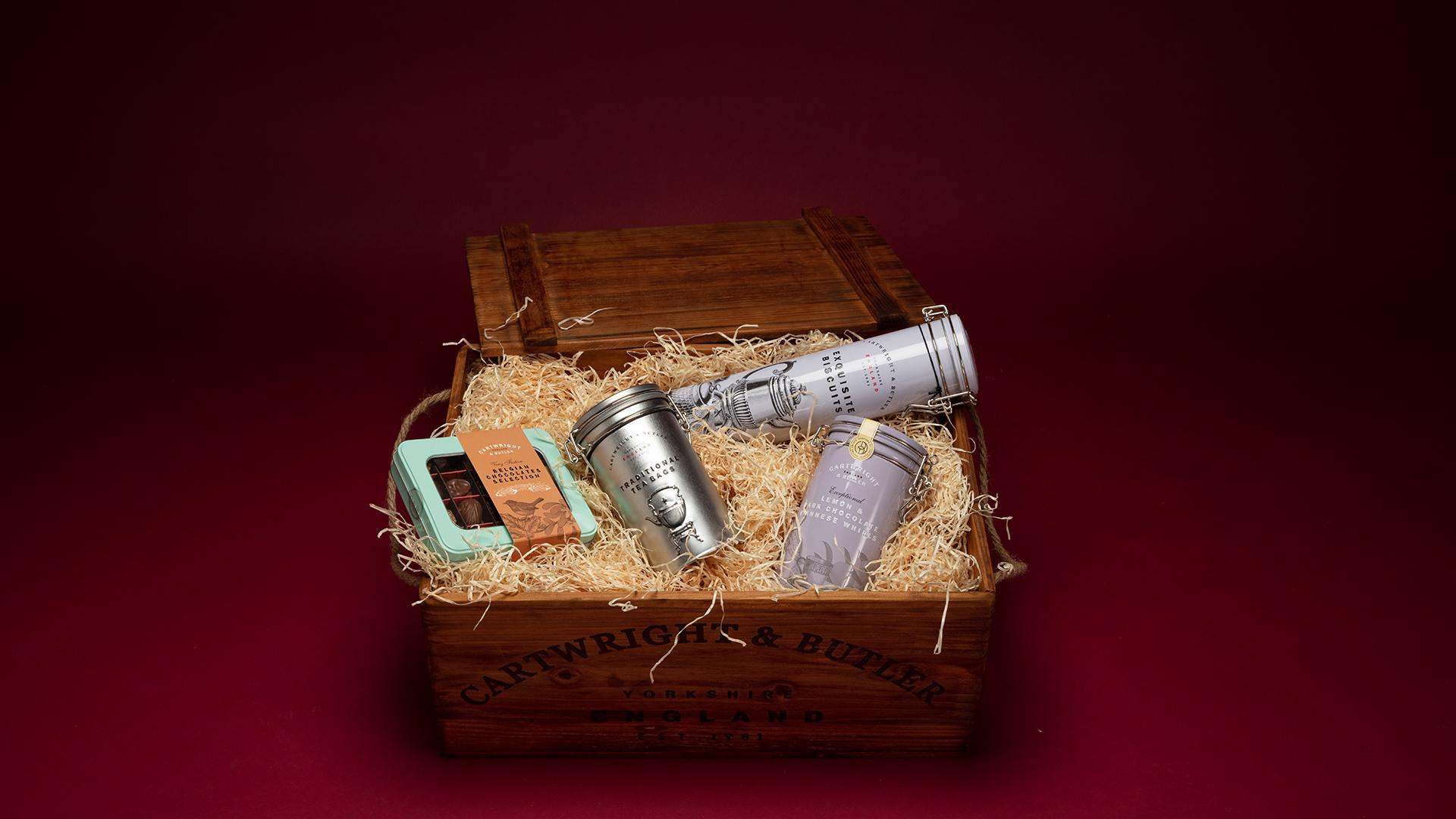 Christmas Hampers 2019: The Swaledale Luxury Christmas Wooden Crate Hamper, £125