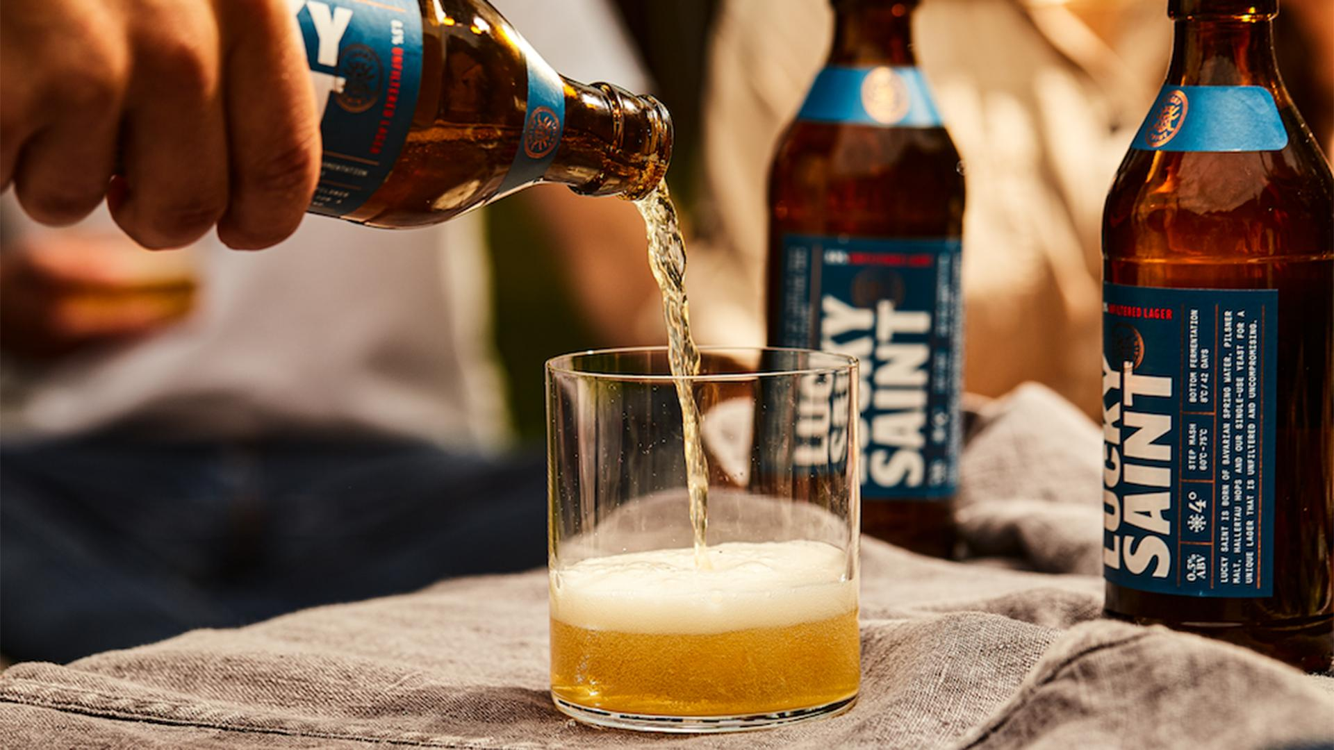 Best Non Alcoholic Beers London – Lucky Saint's Unfiltered Lager – 0.5% ABV