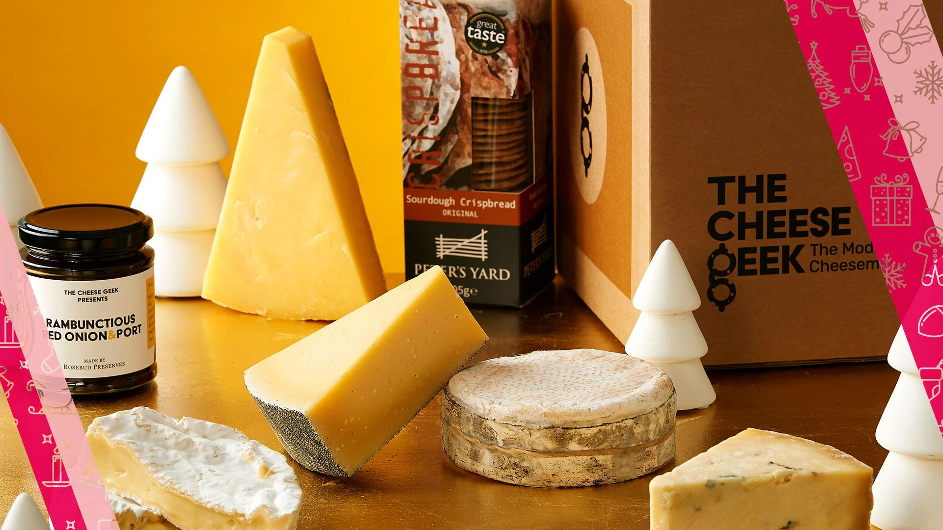Food and drink Christmas gifts: The Cheese Geek Frankie hamper
