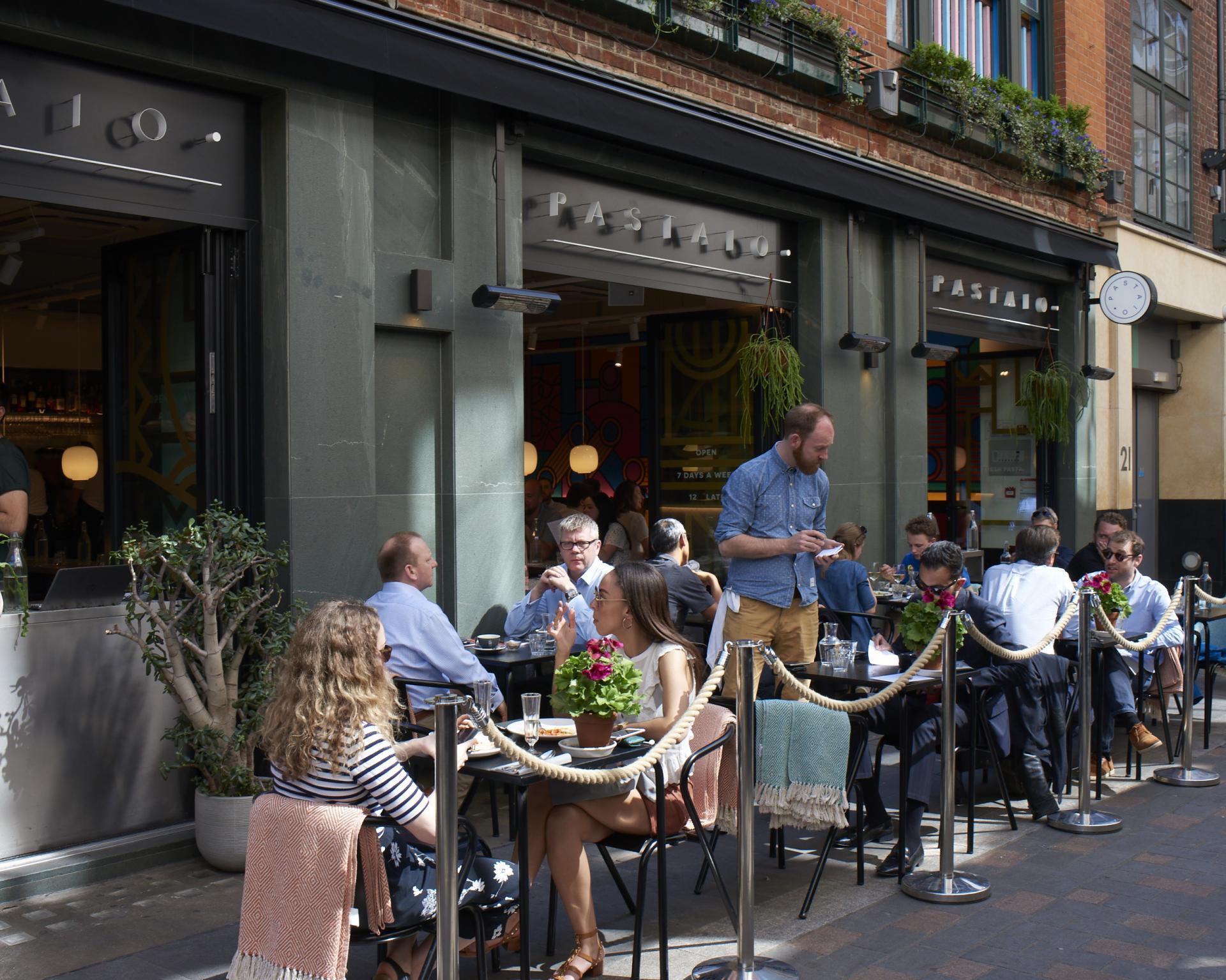 London's outdoor restaurants | Pastaio Ganton Street