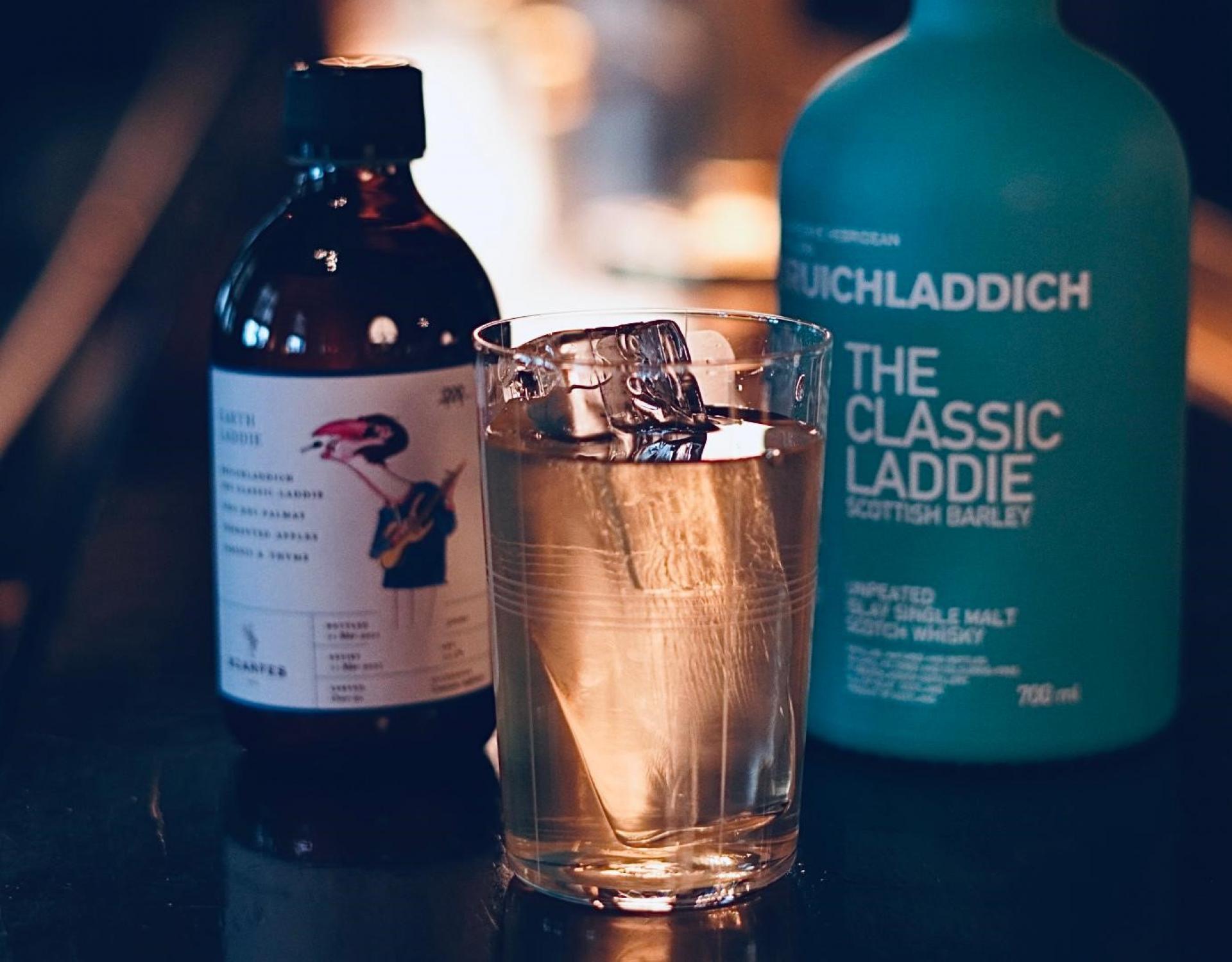 Bruichladdich x Scarfe's Bar The Earth Laddie cocktail