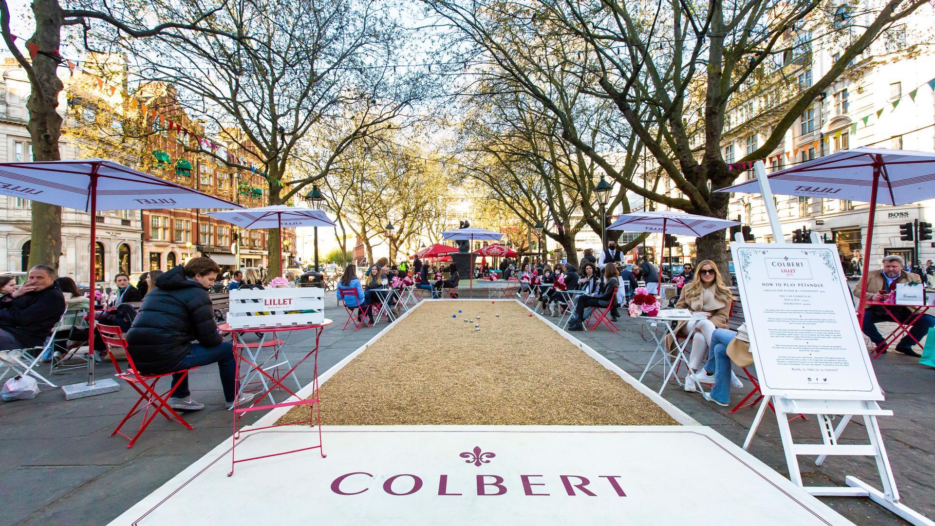 Summer events London 2021: Lillet terrace at Colbert