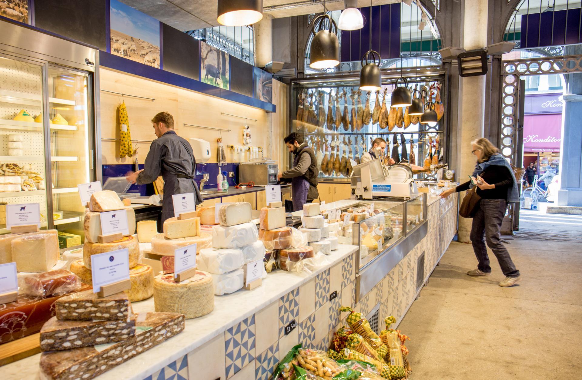 Best tapas London: Brindisa's deli counter in Borough Market