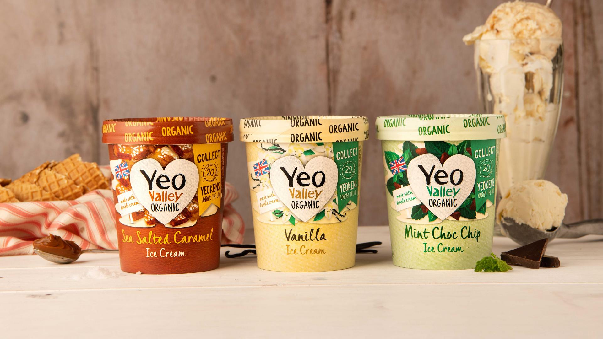 supermarket ice creams: Yeo Valley