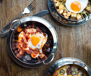 A selection of egg-based dishes at Neil Rankin's Bad Egg