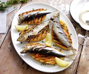Ben Tish's recipe for grilled sardines on toast