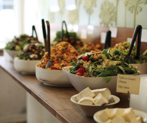 The veggie buffet at Mildred's
