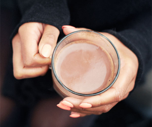 What could be better than hot chocolate containing alcohol?