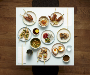 A grazing dinner for two at Jidori
